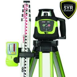 Imex 66R Rotating Laser - Horizontal With Tripod & 5m Staff