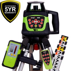 Imex 88R H/V Rotating Laser Level With Tripod & Staff