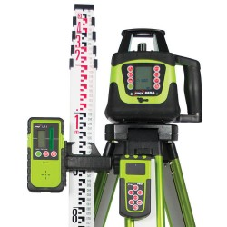 Imex 99DG Dual Grade Laser Level With Tripod & Staff