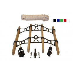 0.9m Traditional Clothes Airer Set - White