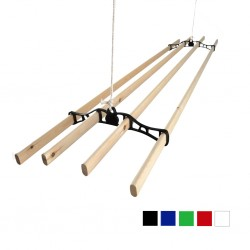 0.9m Victorian Clothes Airer Set - Black