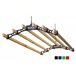 0.9m Super Six Airer Set - White