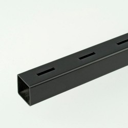 ProFrame 2m Black Single Slot Square Tube