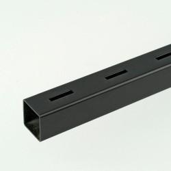 ProFrame 2m Black Single Slot Square Tube