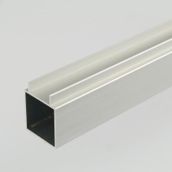 ProFrame 2m Self Colour Aluminium Double Finned Square Tube - Single Face