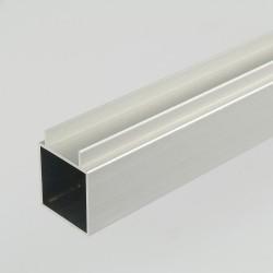 ProFrame 2m Self Colour Aluminium Double Finned Square Tube - Single Face