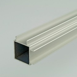 ProFrame 2m Self Colour Aluminium Double Finned Square Tube - Adjacent Face