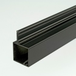 ProFrame 2m Black Aluminium Single Fin Square Tube