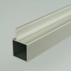 ProFrame 2m Self Colour Aluminium Single Fin Square Tube