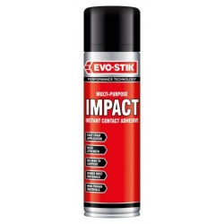 Bostik 500ml Impact Multi-Purpose Instant Contact Adhesive Spray