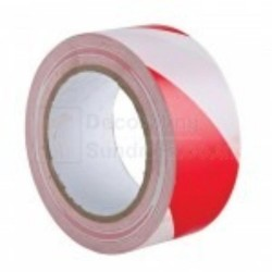 Self Adhesive Red & White Barrier Tape