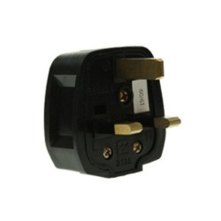 13 Amp 3 Pin Black Rubber Plug