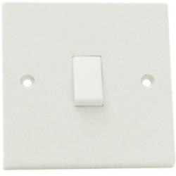 SMJ W12LSC White Light Switch 1 Gang 2 Way