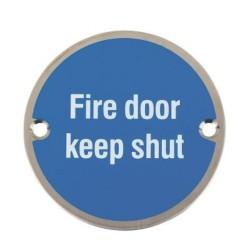 M14A-S S/ADH Fire Door Keep Shut Sign