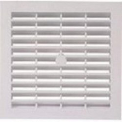 130mm x 360mm White Plastic Louvred Air Vent