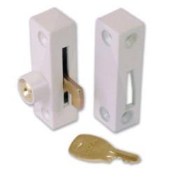902-12 White Flush Pivot Lock