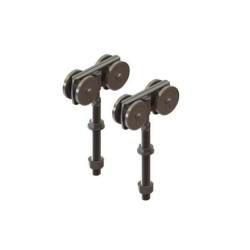 Coburn '4 Wheel' Metal Door Hangers (Pair)