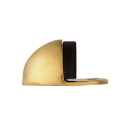 Carlisle Brass Oval Floor Door Stop - Polished Chrome