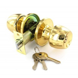 Polished Brass Entrance Knob Set