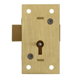 Asec No.51 75mm 2 Lever Straight Cupboard Lock