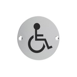 75mm Satin Stainless Steel Disabled WC Sign