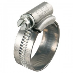 Size 0 (16 - 22mm) Mild Steel Jubilee Hose Clips (Pack of 10)