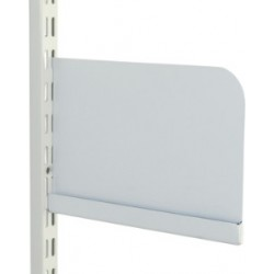 200mm White Twin Slot Shelf Ends