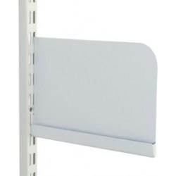 250mm White Twin Slot Shelf Ends