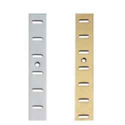 6' BZP Flat Bookcase Strip