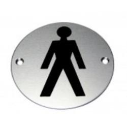 150mm x 100mm x 1.5mm Engraved Male Symbol SSA