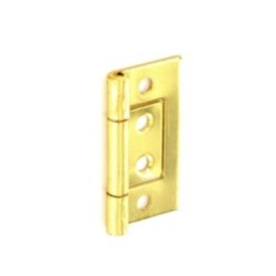 50mm Electro-Brass Flush Hinges (Pair)