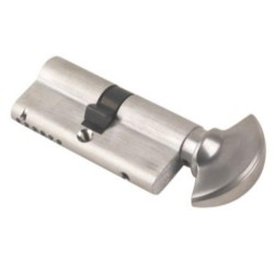 CES 70mm Satin Chrome Key & Turn Cylinder