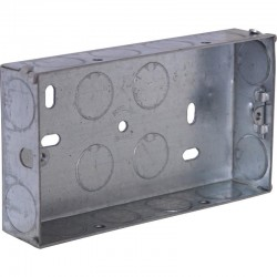 SparkPak 2 Gang 25mm Metal Box