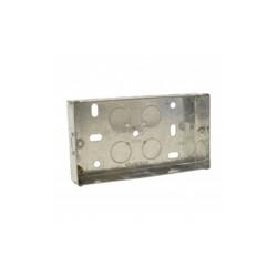 SparkPak 2 Gang 35mm Metal Box