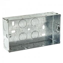 SparkPak 2 Gang 47mm Metal Box