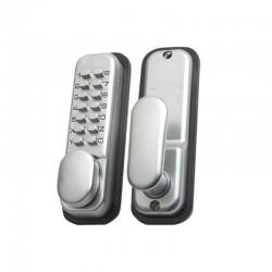 Yale Locks - Hold Open Push Button Door Lock - Satin Chrome FInish