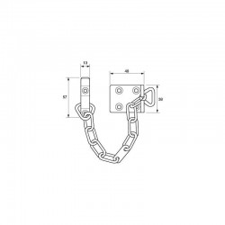 Yale 13.5cm Door Security Chain - Electro Brass Finish