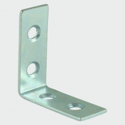 Timco 100mm BZP Corner Brace - 100mm x 100mm x 22mm - Pack of 2
