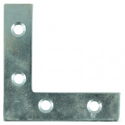 Timco 50mm BZP Corner Plate - 50mm x 50mm x 13mm - Pack of 4