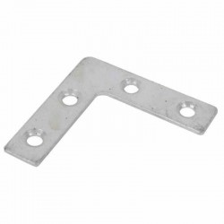 Timco 75mm BZP Corner Plate - 75mm x 75mm x 16mm - Pack of 4