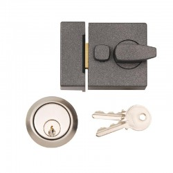 Dale Hardware - Narrow Style Nightlatch - Clam Packed - Grey Finish