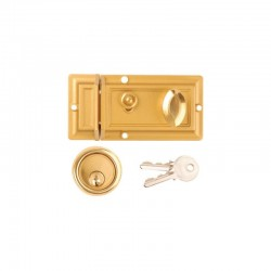 Dale Hardware - Narrow Style Nightlatch - Clam Packed - Champagne Finish