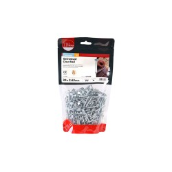 Timco Galvanised Clout, Roof, Felt Nails - 30mm x 2.65mm - 1kg Bag