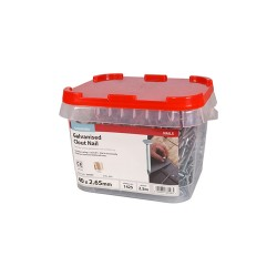 Timco Galvanised Clout, Roof, Felt Nails - 40mm x 2.65mm - 2.5kg Bag