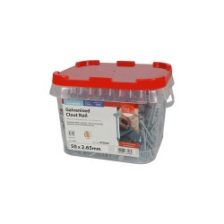 Timco Galvanised Clout, Roof, Felt Nails - 50mm x 2.65mm - 2.5kg Bag