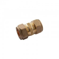 Oracstar 15mm Brass Compression Straight Coupler - Pack of 2