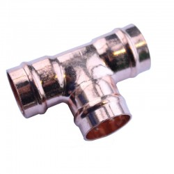 Oracstar 15mm Bronze Equal Tee Solder Ring Fitting For Plumbing - Pack of 2