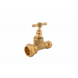 COMAP 11005 25mm x 15mm Brass Poly Stopcock Valve