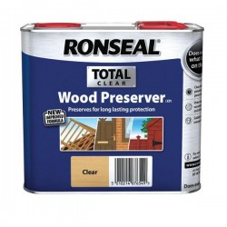 Ronseal Total Wood Preserver - Clear - 2.5L