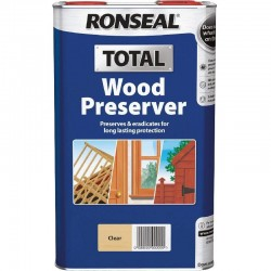 Ronseal Total Wood Preserver - Clear - 5L